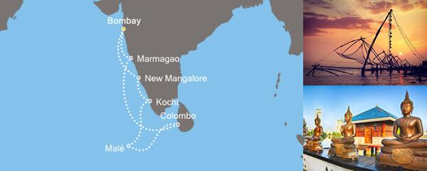 Routenverlauf Die Farben Indiens am 15.02.2020