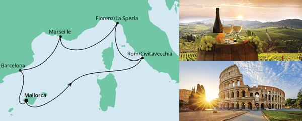 Routenverlauf Perlen am Mittelmeer ab Mallorca am 05.03.2022