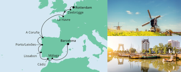 Von Rotterdam nach Barcelona