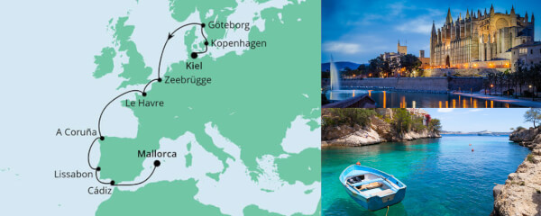 Von Kiel nach Mallorca 1