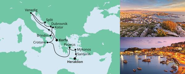 Von Venedig nach Kreta