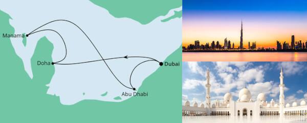 Routenverlauf Orient ab Dubai 1 am 11.03.2022