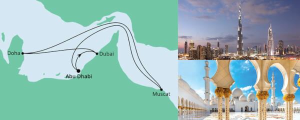 Routenverlauf Orient ab Abu Dhabi am 17.03.2022