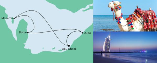 Routenverlauf Orient ab Abu Dhabi am 09.12.2021