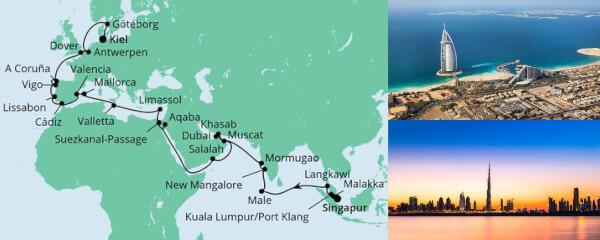 Weltenbummler von Singapur nach Kiel
