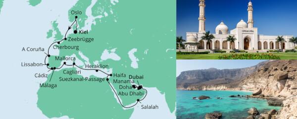 Weltenbummler von Kiel nach Dubai