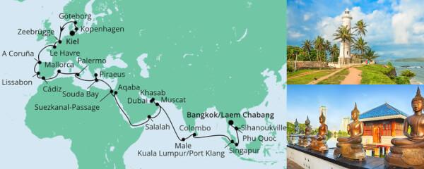 Weltenbummler von Kiel nach Bangkok