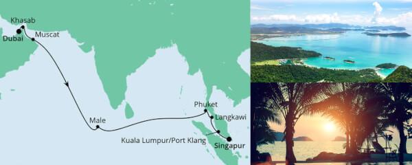 Von Dubai nach Singapur