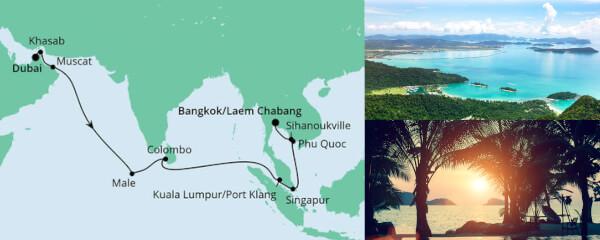 Von Dubai nach Bangkok