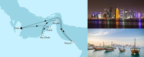 Routenverlauf Doha mit Oman am 11.12.2021