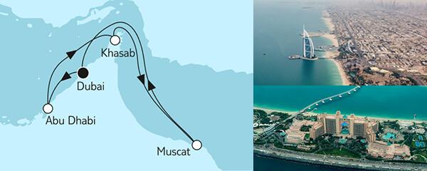 Routenverlauf Dubai mit Oman I am 29.11.2021