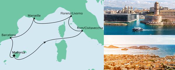 Routenverlauf Perlen am Mittelmeer am 27.03.2021