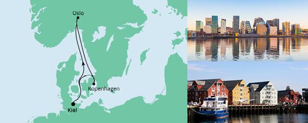 Routenverlauf Kurzreise nach Norwegen & Dänemark am 13.05.2022