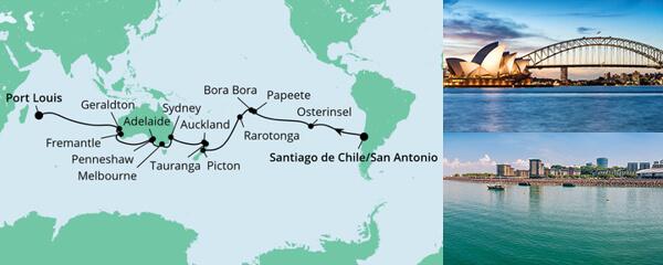 Von San Antonio nach Mauritius