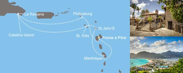 Routenverlauf Karibisches Meer am 22.12.2018