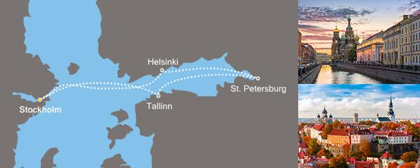 Routenverlauf Perlen der Ostsee am 18.05.2019