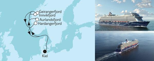 7 Tage Blaue Reise - Panoramafahrt 2 mit der Mein Schiff 1