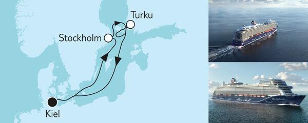 7 Tage Blaue Reise - Panoramafahrt 3 mit der Mein Schiff 1