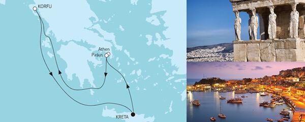 7 Tage Blaue Reise - Griechische Inseln Land & Meer mit der Mein Schiff 6
