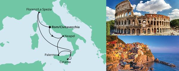 AIDA Angebot Bella Italia ab Civitavecchia