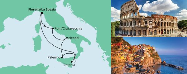 AIDA Angebot Bella Italia ab La Spezia