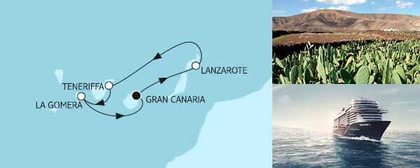 Routenverlauf Blaue Reise - Kanarische Inseln 1 am 07.05.2021