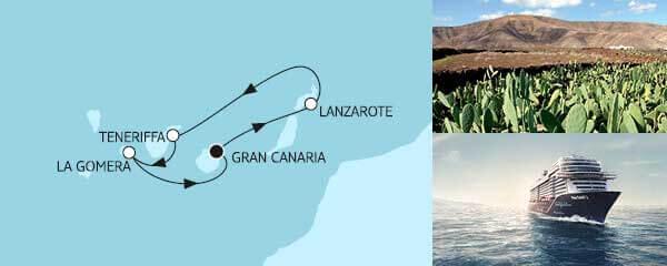 Routengrafik Blaue Reise - Kanarische Inseln 1