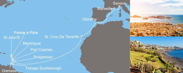Routenverlauf Karibisches Meer am 29.03.2019