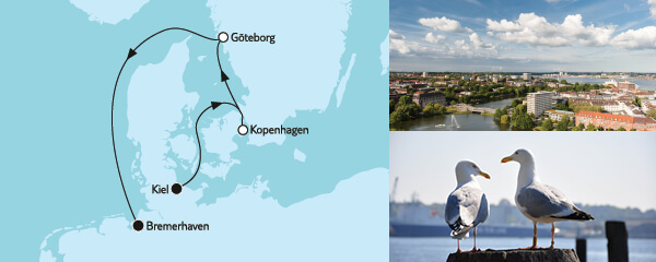 Routenverlauf Kurzreise mit Kopenhagen & Göteborg am 09.05.2022