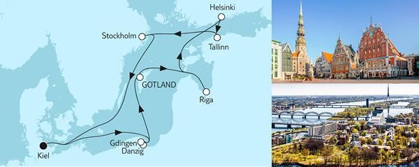 10 Tage Ostsee mit St. Petersburg & Danzig II