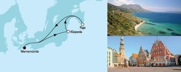 Routenverlauf Kurzreise mit Klaipeda & Riga am 30.09.2022