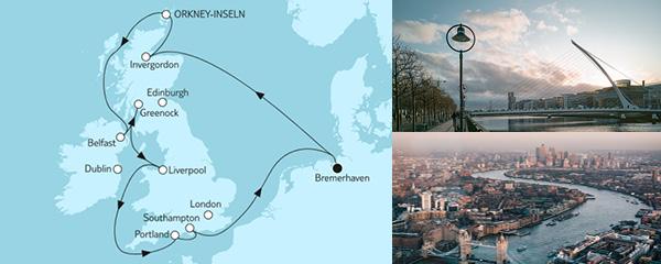 Routenverlauf Großbritannien mit Liverpool II am 07.06.2022