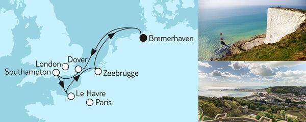 7 Tage Westeuropa mit Dover