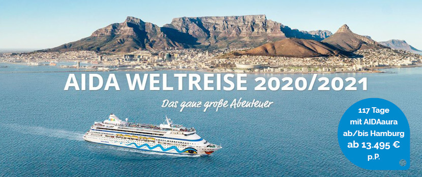 AIDA Weltreise 2020
