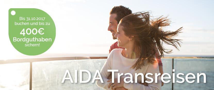 AIDA Transreisen mit Bordguthaben